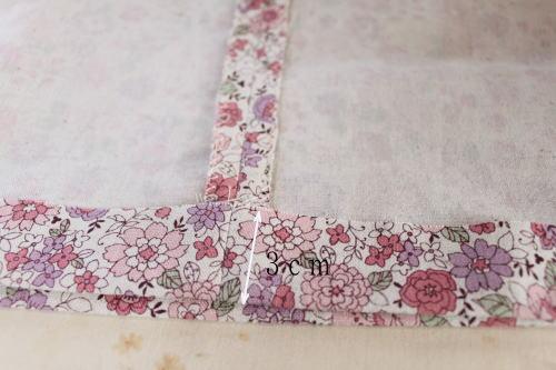 縫い代アイロンで折る