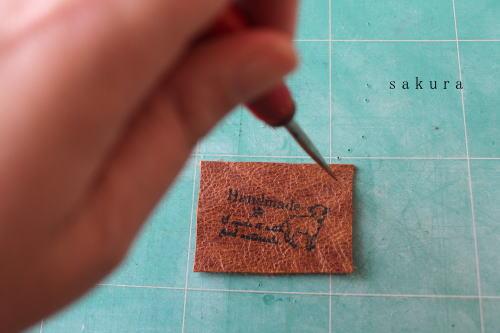 革タグ縫い穴