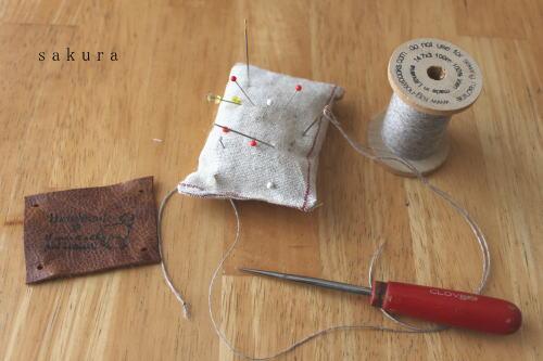 革タグ縫い付け道具