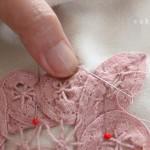 バテンレースの手縫い縫い付け方