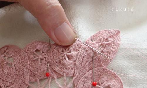 バテンレース縫い付け
