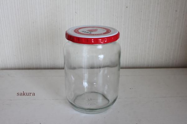 ジャムの空き瓶リメイク