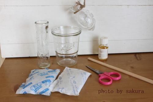 保冷剤で作る芳香剤材料