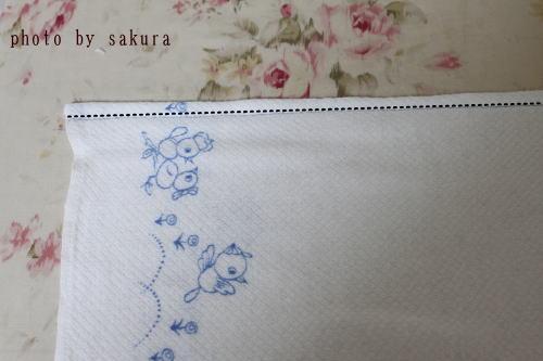 布おむつ 直線縫い
