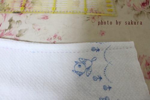 布おむつ手縫い