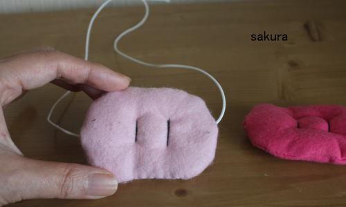 フェルト豚の鼻作り