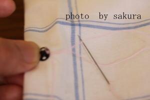 スナップボタン縫い付け方