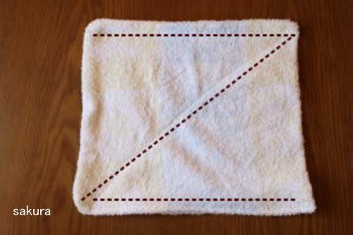 バスタオルで雑巾作り方