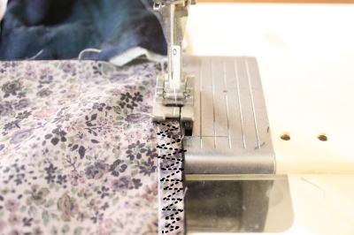 パッチワークスカート作り方 縫い方布端