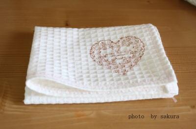 ワッフル地 布巾作り