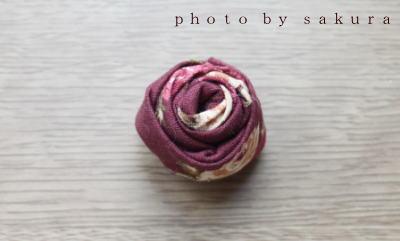 布で作るバラ