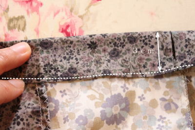 パッチワークスカートゴム部分縫い方
