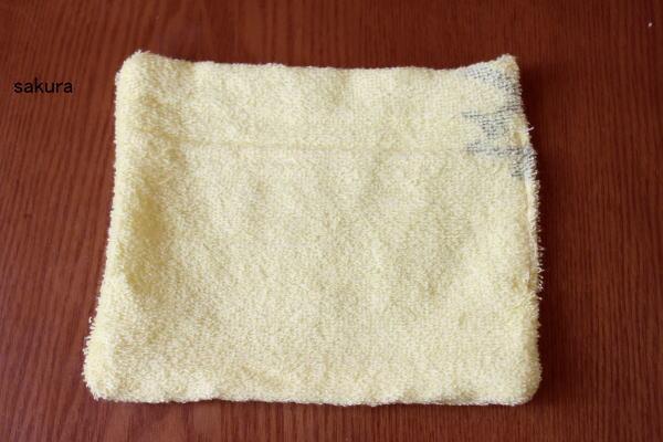 タオルで作る雑巾作り方