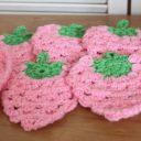 アクリルたわし イチゴ編み方