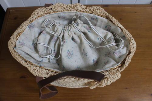かごバッグ インナー 巾着 作り方