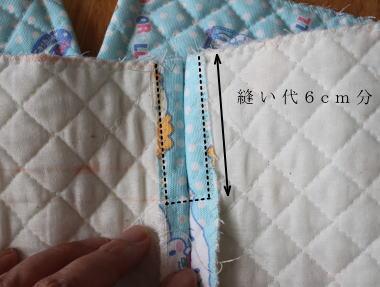 簡単子供のナップサック作り方 紐通し縫い方