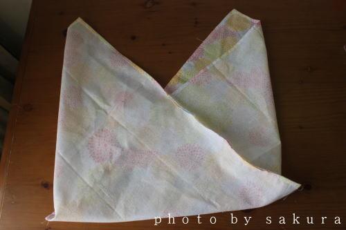 100均手ぬぐいあずま袋作り方